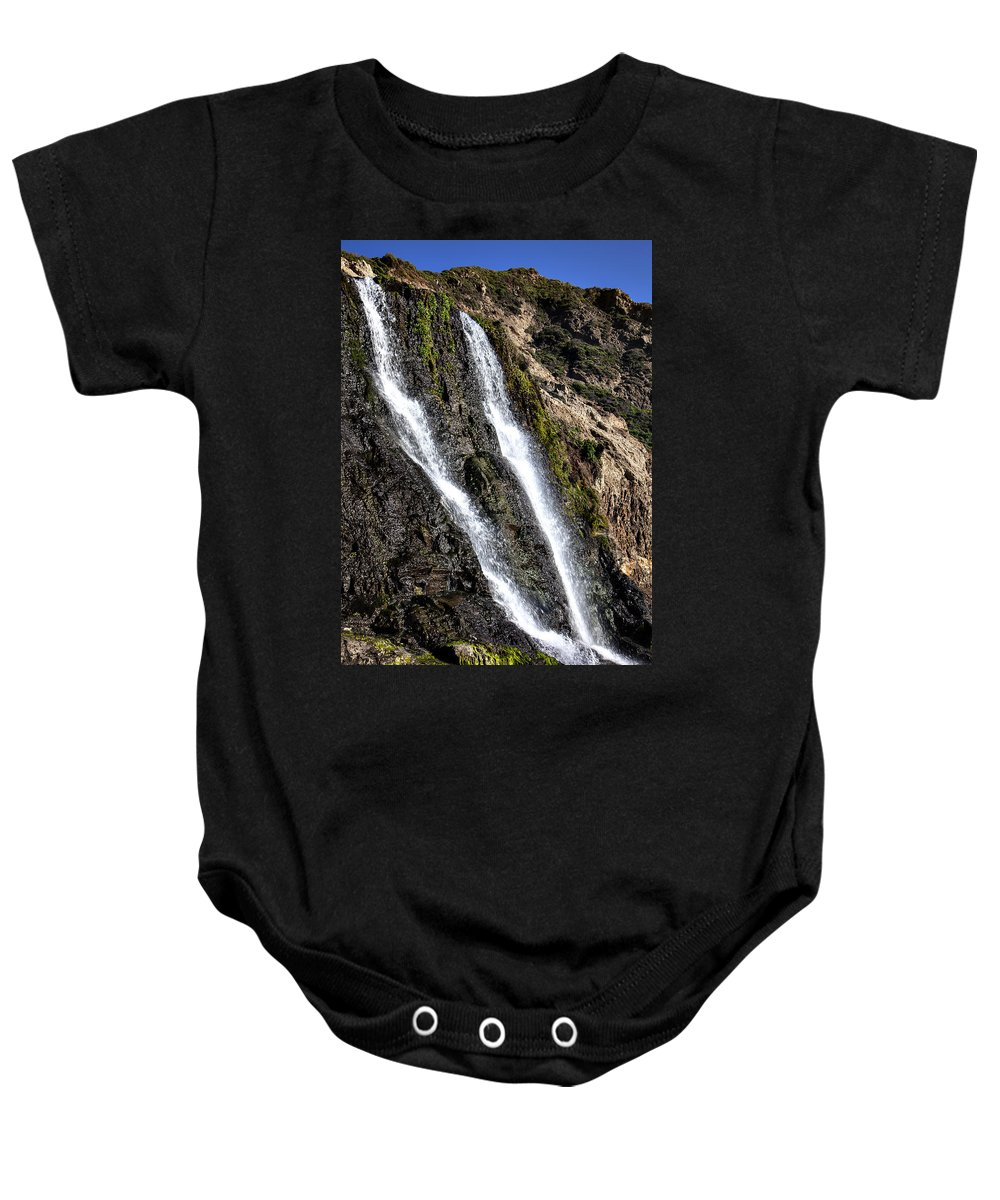 Alamere Falls Baby Onesie featuring the photograph Alamere Falls Two by Garry Gay