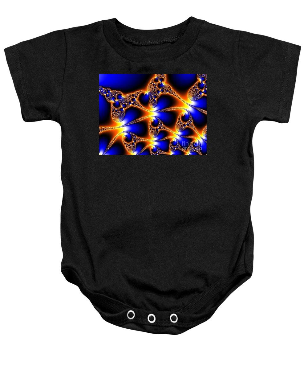 Fractal 22 Baby Onesie featuring the digital art Alien Dna by Taylor Webb