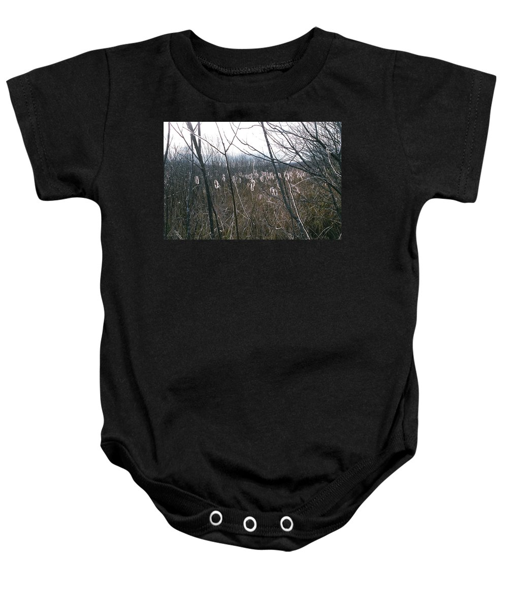 Landscape Baby Onesie featuring the photograph All Aglow by David Porteus