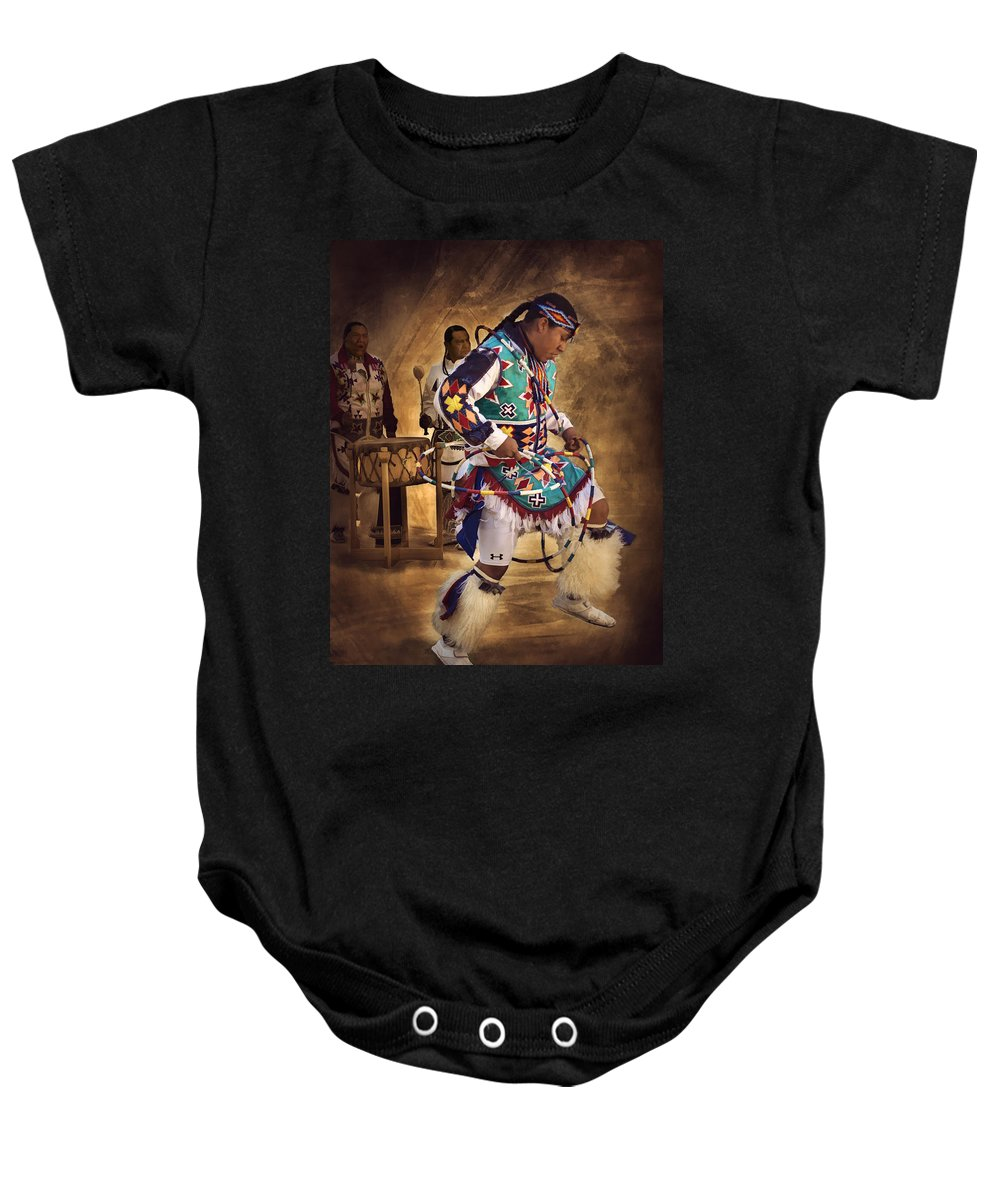 Hoop Dancer Baby Onesie featuring the photograph All In The Family by Priscilla Burgers