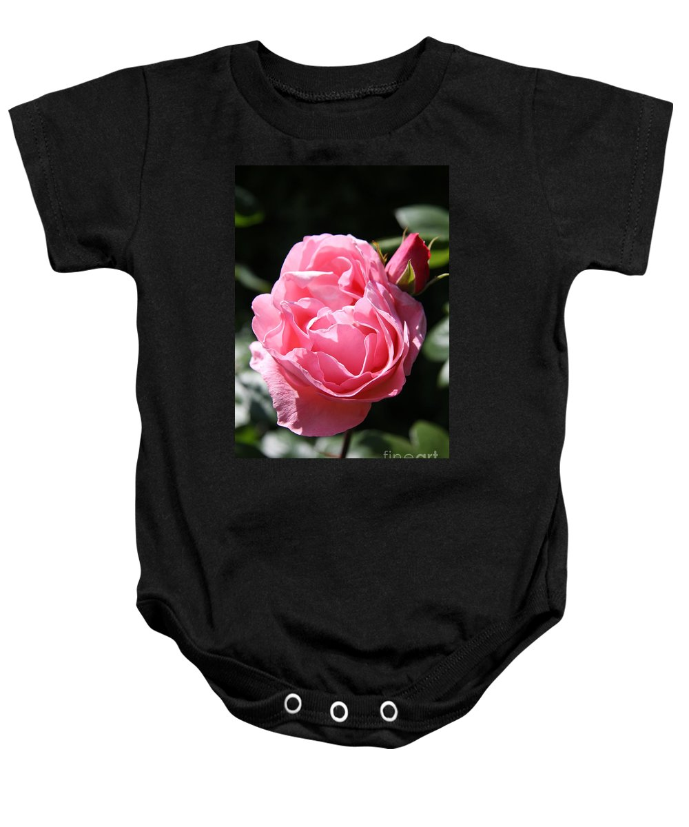 Rose Baby Onesie featuring the photograph All Shades Of Pink by Christiane Schulze Art And Photography