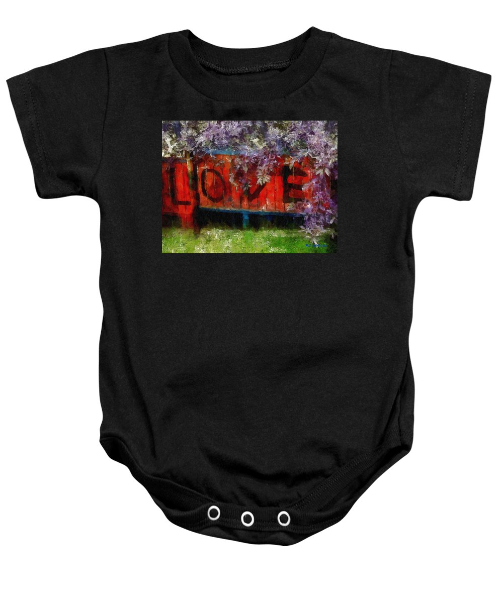 Landscape Baby Onesie featuring the painting All You Need Is... by RC DeWinter