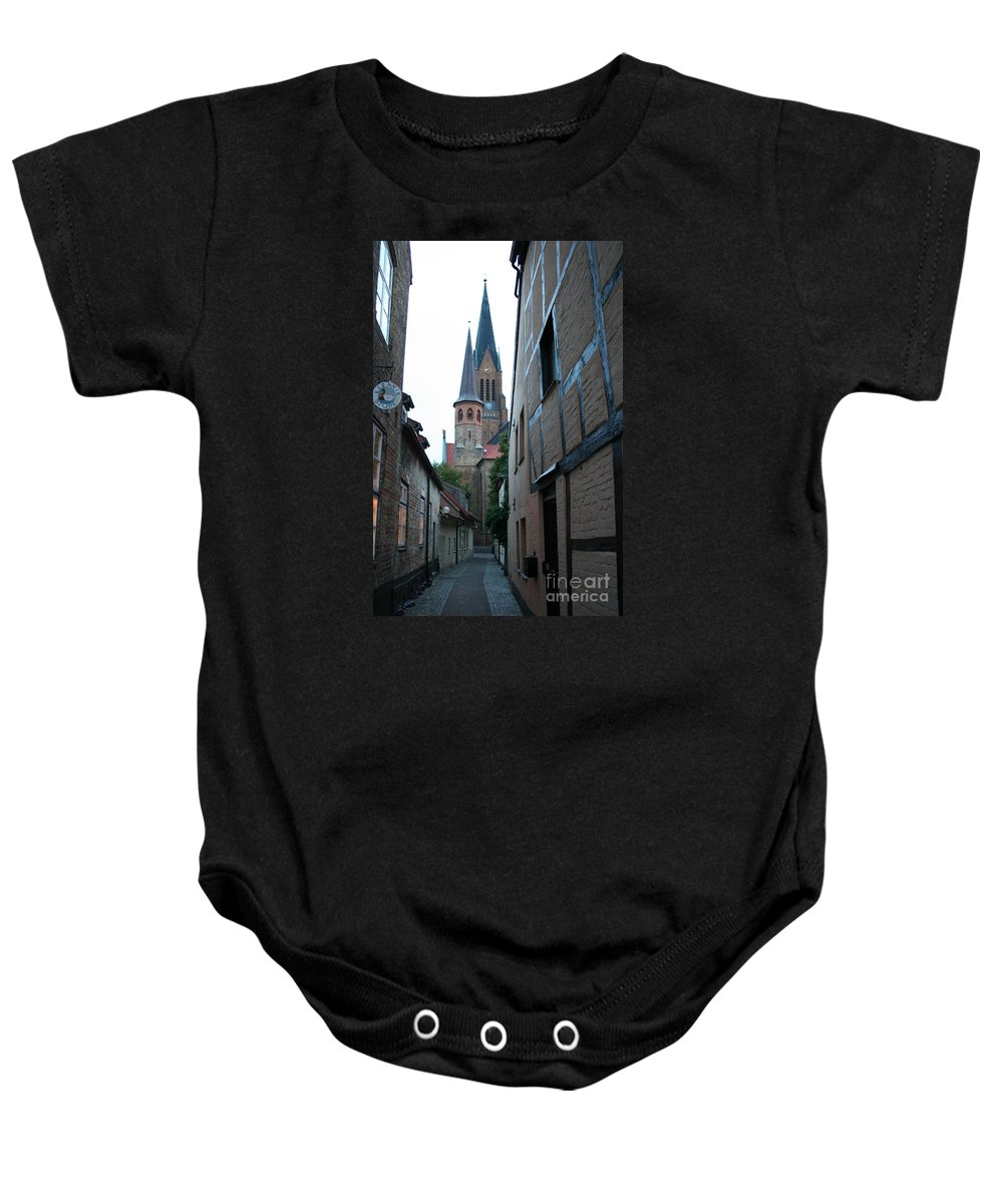 Alley Baby Onesie featuring the photograph Alley In Schleswig - Germany by Christiane Schulze Art And Photography