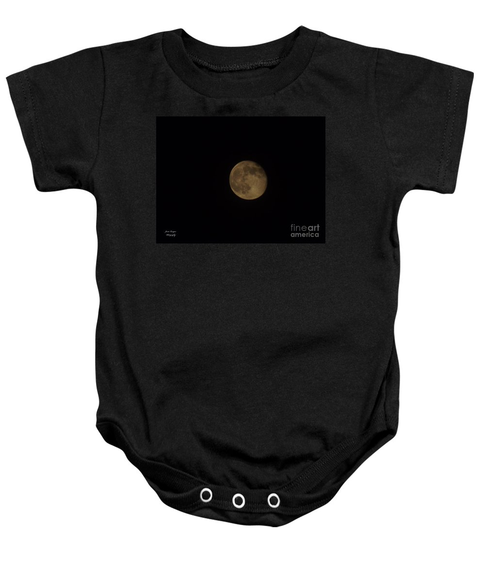Moon Baby Onesie featuring the photograph Almost Full 2 by Jennifer Lavigne