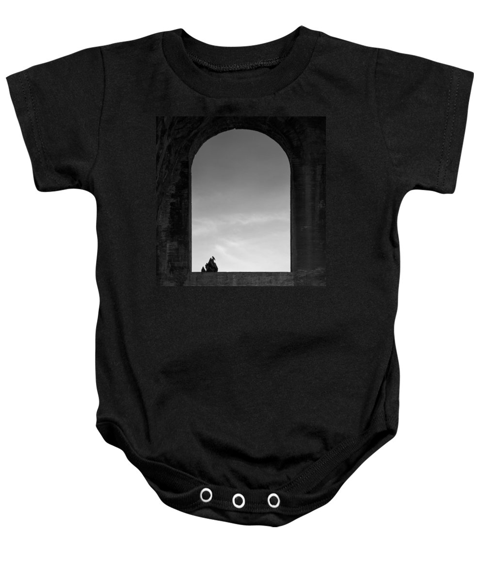 Bird Baby Onesie featuring the photograph Alone by Dave Bowman