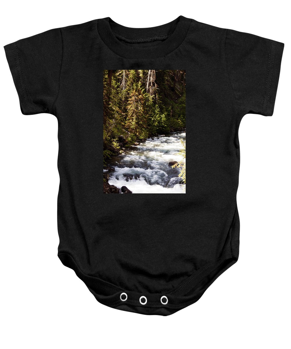 Washington Baby Onesie featuring the photograph Along American River by Edward Hawkins II