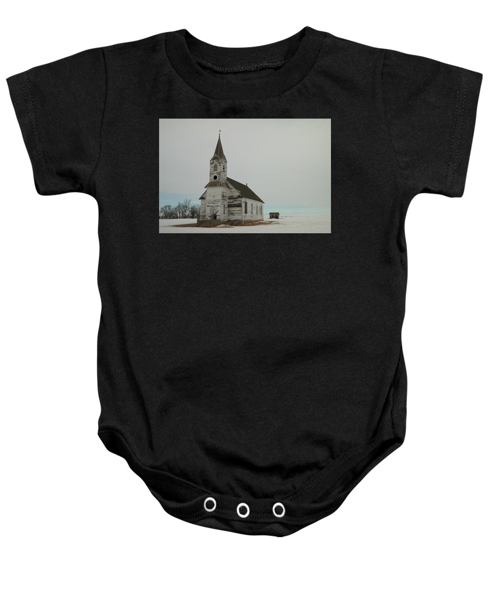 Churches Baby Onesie featuring the photograph Amazing Grace In North Dakota by Jeff Swan