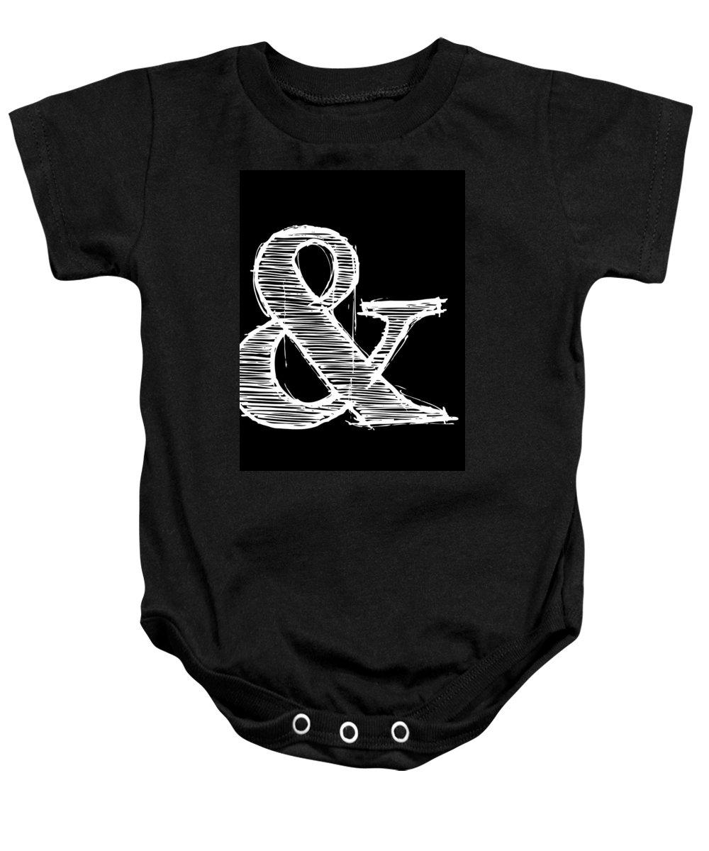 Motivational Baby Onesie featuring the digital art Ampersand Poster 2 by Naxart Studio