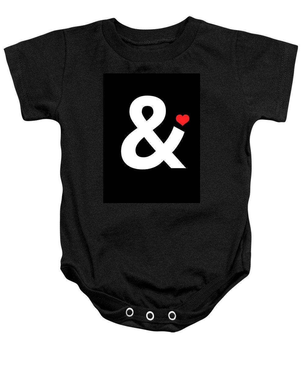 Motivational Baby Onesie featuring the digital art Ampersand Poster 4 by Naxart Studio
