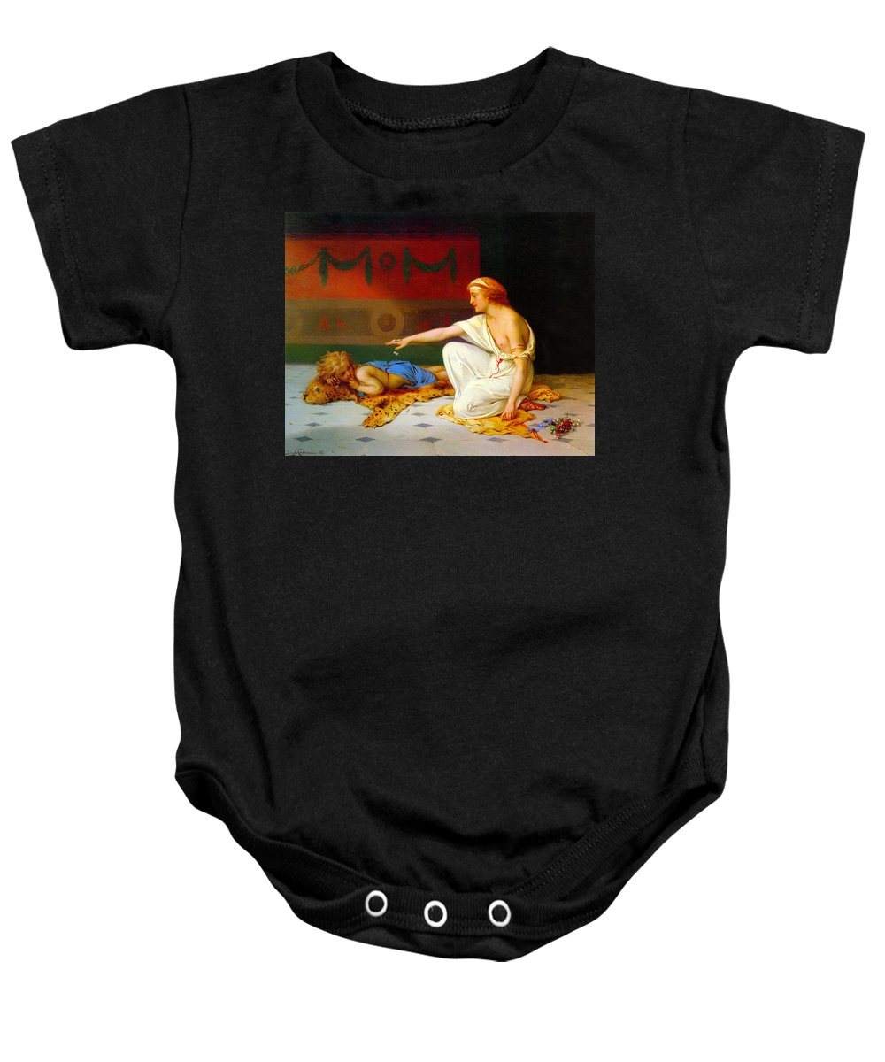 An Afternoon's Amusement Baby Onesie featuring the digital art An Afternoon's Amusement by Pierre Coomans