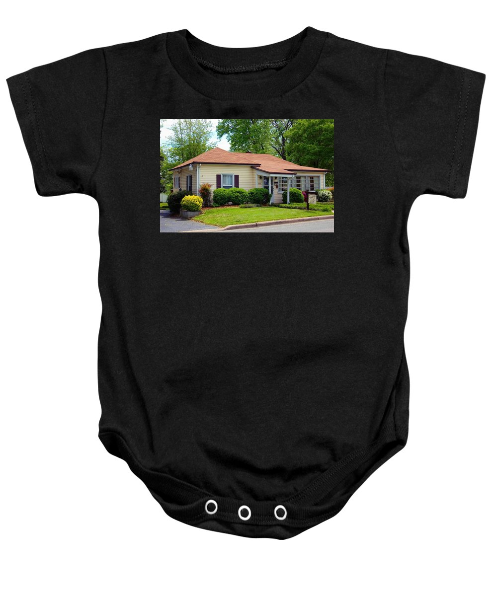 Andy Griffith Homeplace Baby Onesie featuring the photograph Andy Griffith Homeplace by Bob Pardue