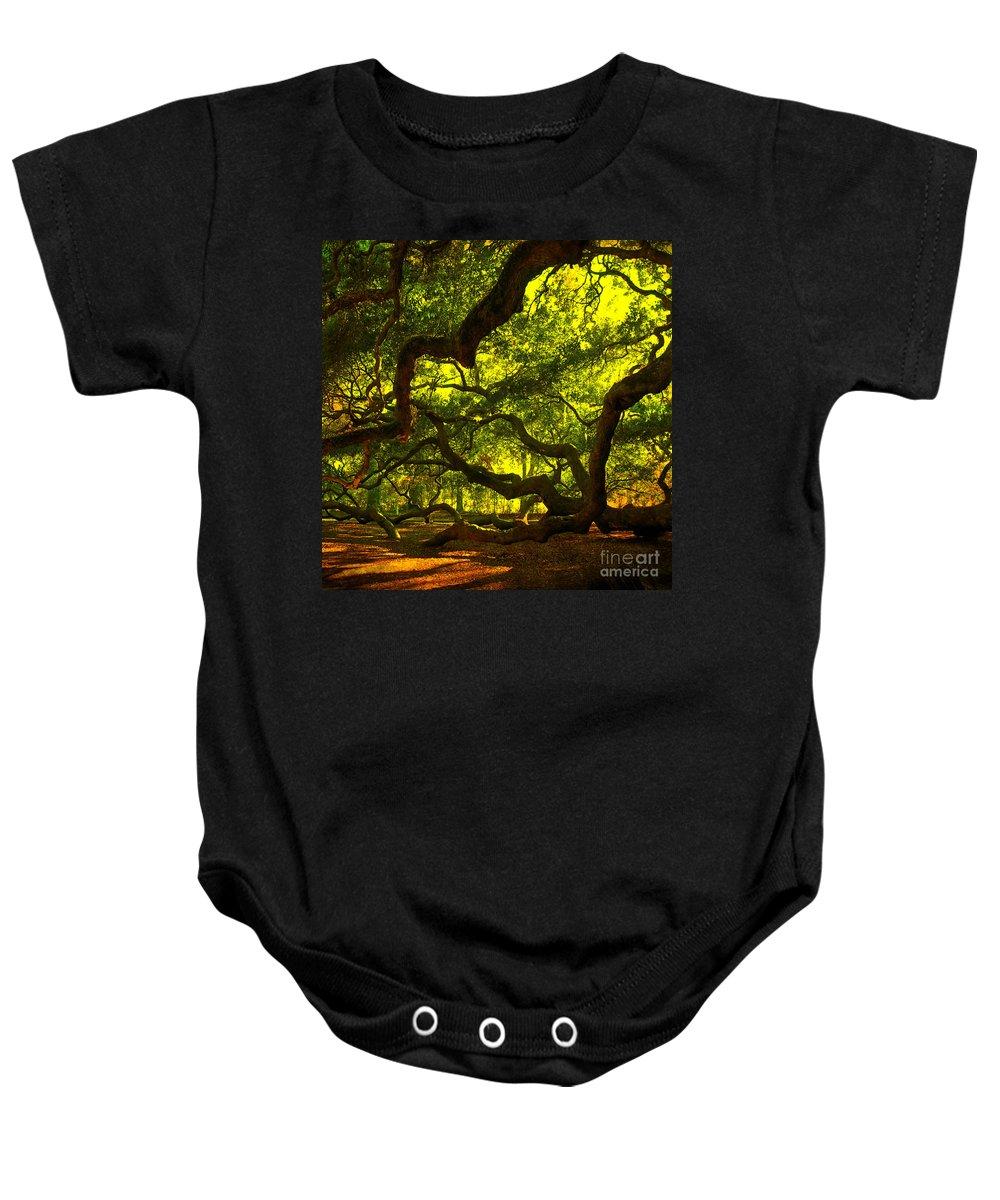 Angel Oak Baby Onesie featuring the photograph Angel Oak Limbs Crop 40 by Susanne Van Hulst