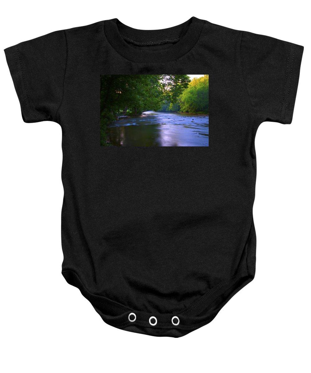 Antietam Baby Onesie featuring the photograph Antietam Creek - Hagerstown Maryland by Bill Cannon