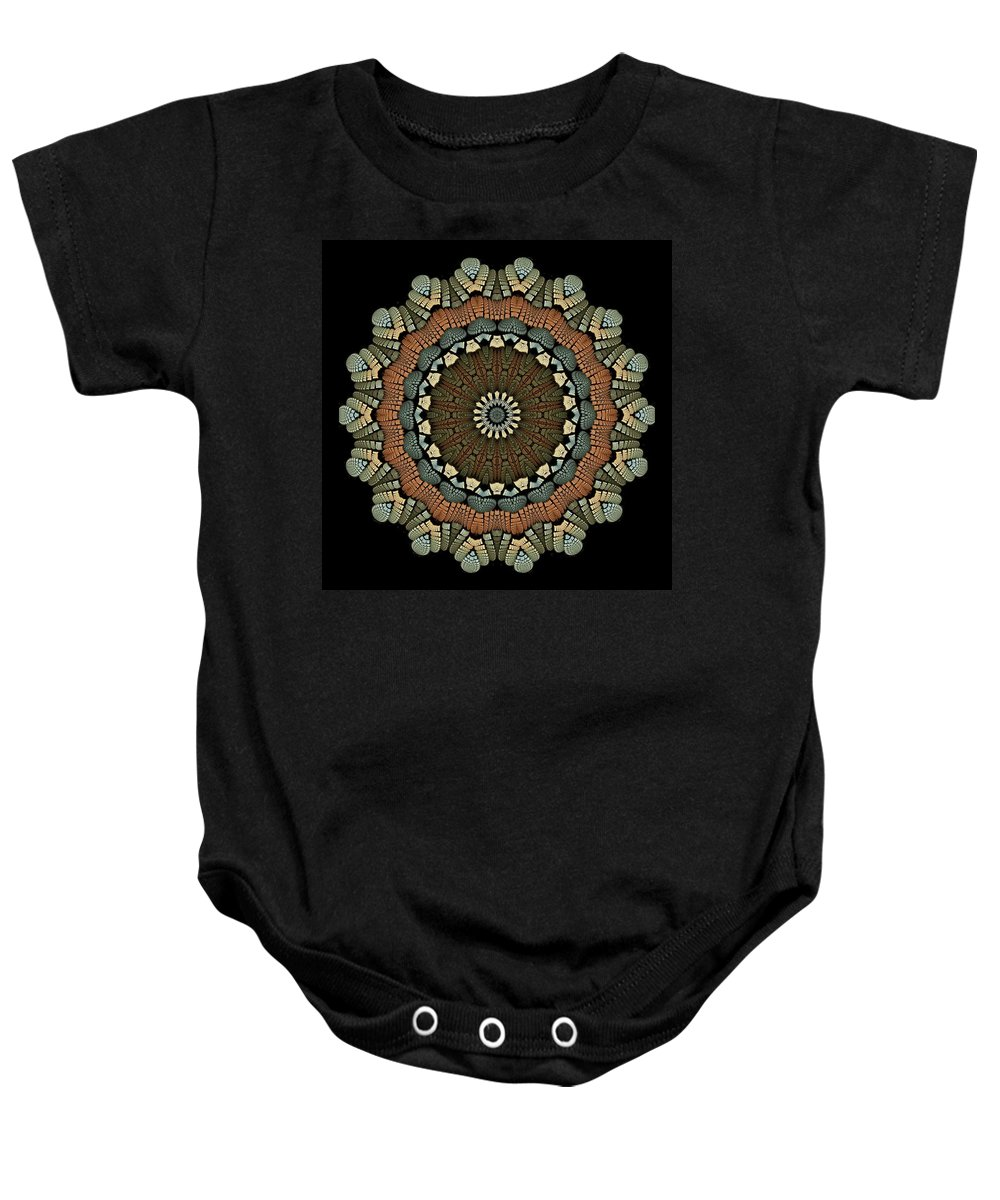 Fractal Abstract Baby Onesie featuring the digital art Apostrophe K18-13 by Doug Morgan