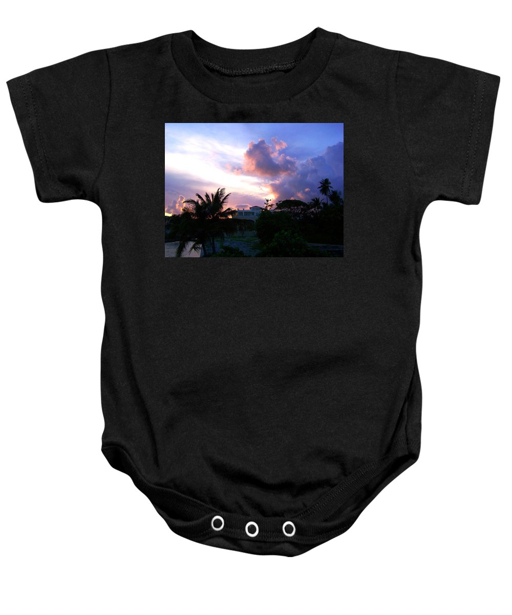 Palmas Del Mar Baby Onesie featuring the photograph Approaching Storm Palmas Del Mar by Marilyn Holkham
