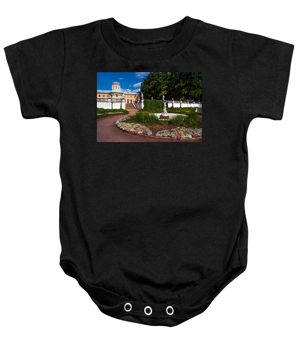 Archangelskoe Baby Onesie featuring the photograph Archangelskoe 1. Russian Versal by Jenny Rainbow
