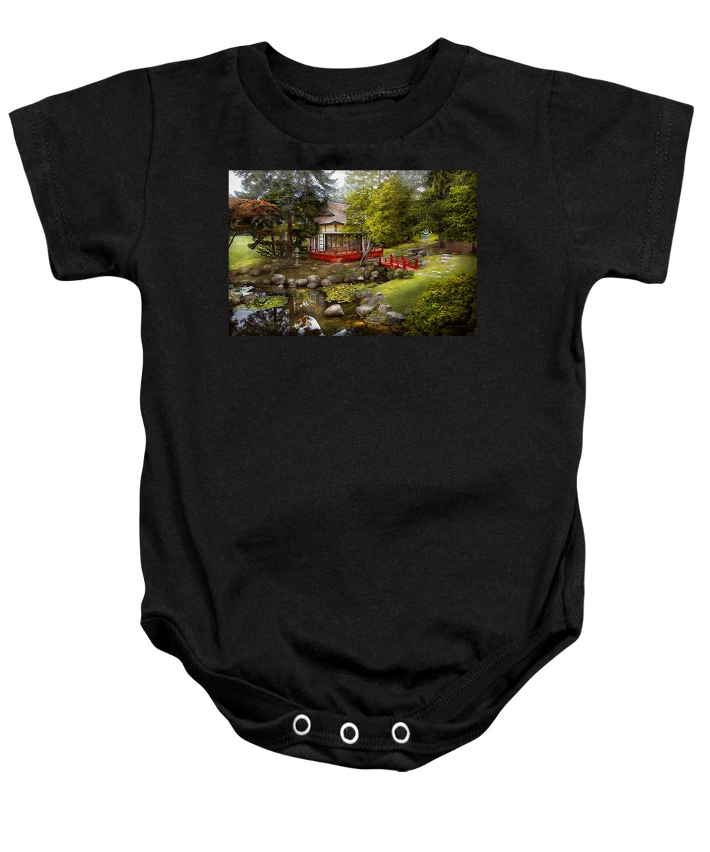 Savad Baby Onesie featuring the photograph Architecture - Japan - Tranquil Moments by Mike Savad