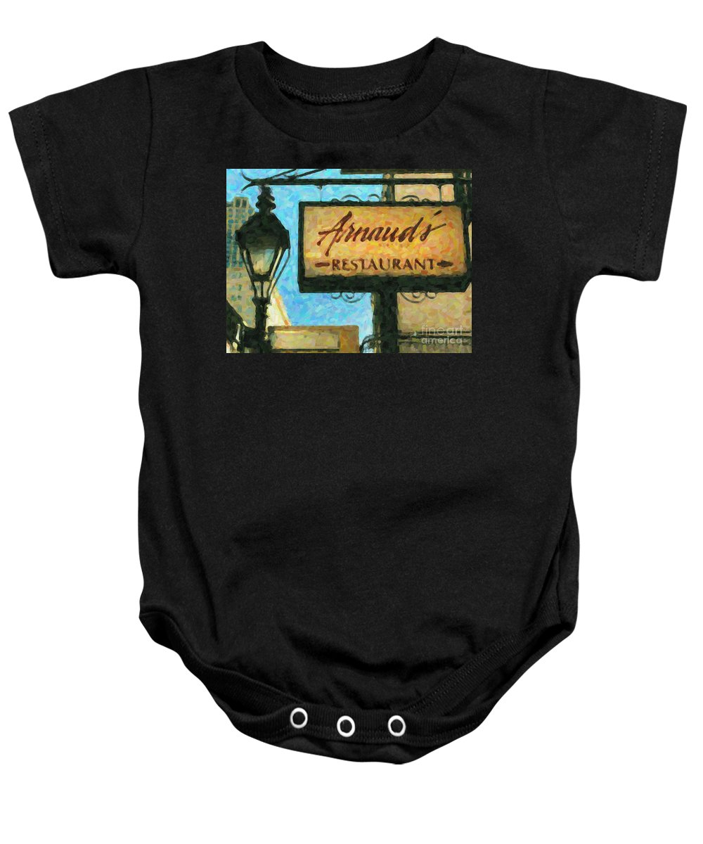Arnaud's Baby Onesie featuring the photograph Arnauds New Orleans_oil Digital Art by Kathleen K Parker