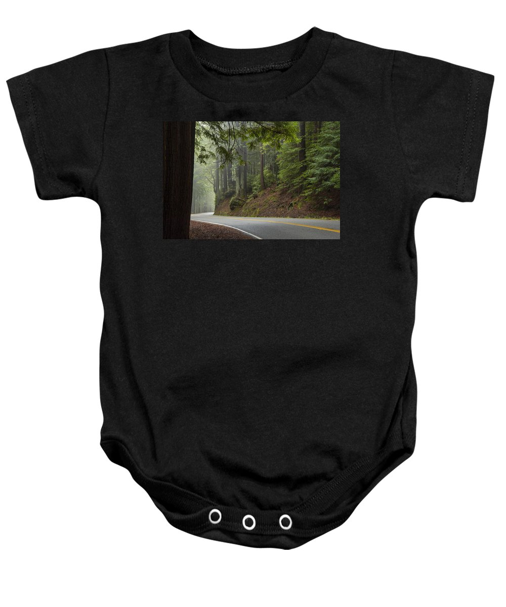 California Baby Onesie featuring the photograph Around The Bend by Dustin LeFevre