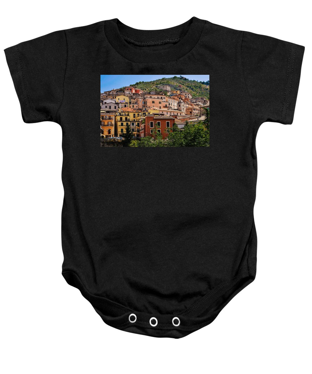 Medieval Baby Onesie featuring the photograph Arpino City by Dany Lison