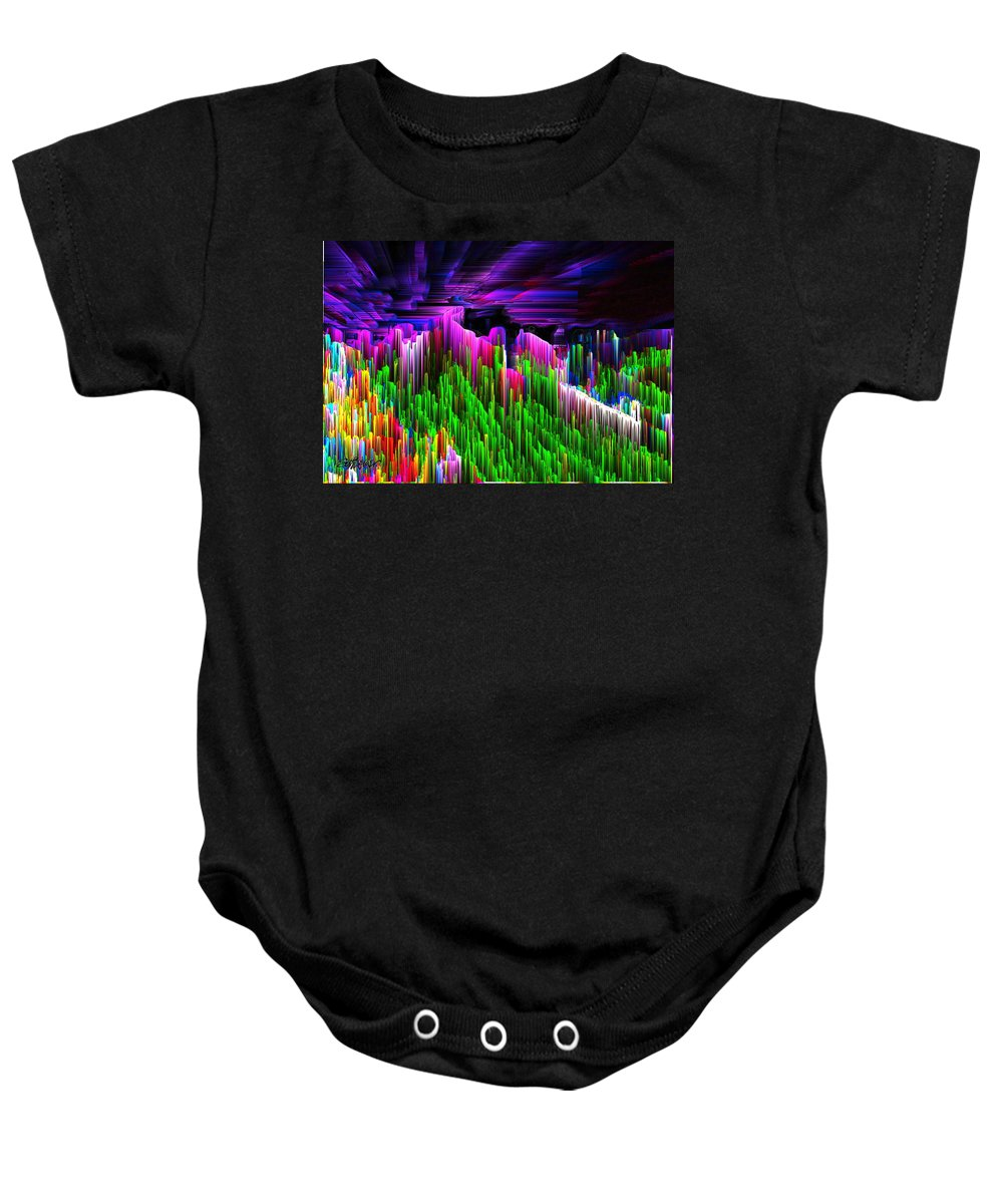 Asgard Baby Onesie featuring the digital art Asgard Roof Of The World by Seth Weaver