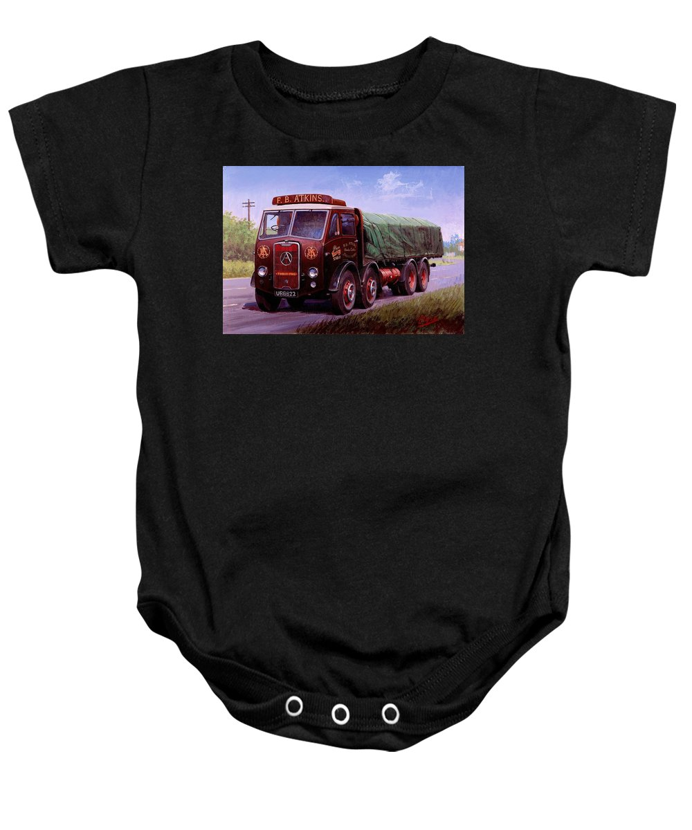 Painting For Sale Baby Onesie featuring the painting Atkin's Atkinson by Mike Jeffries