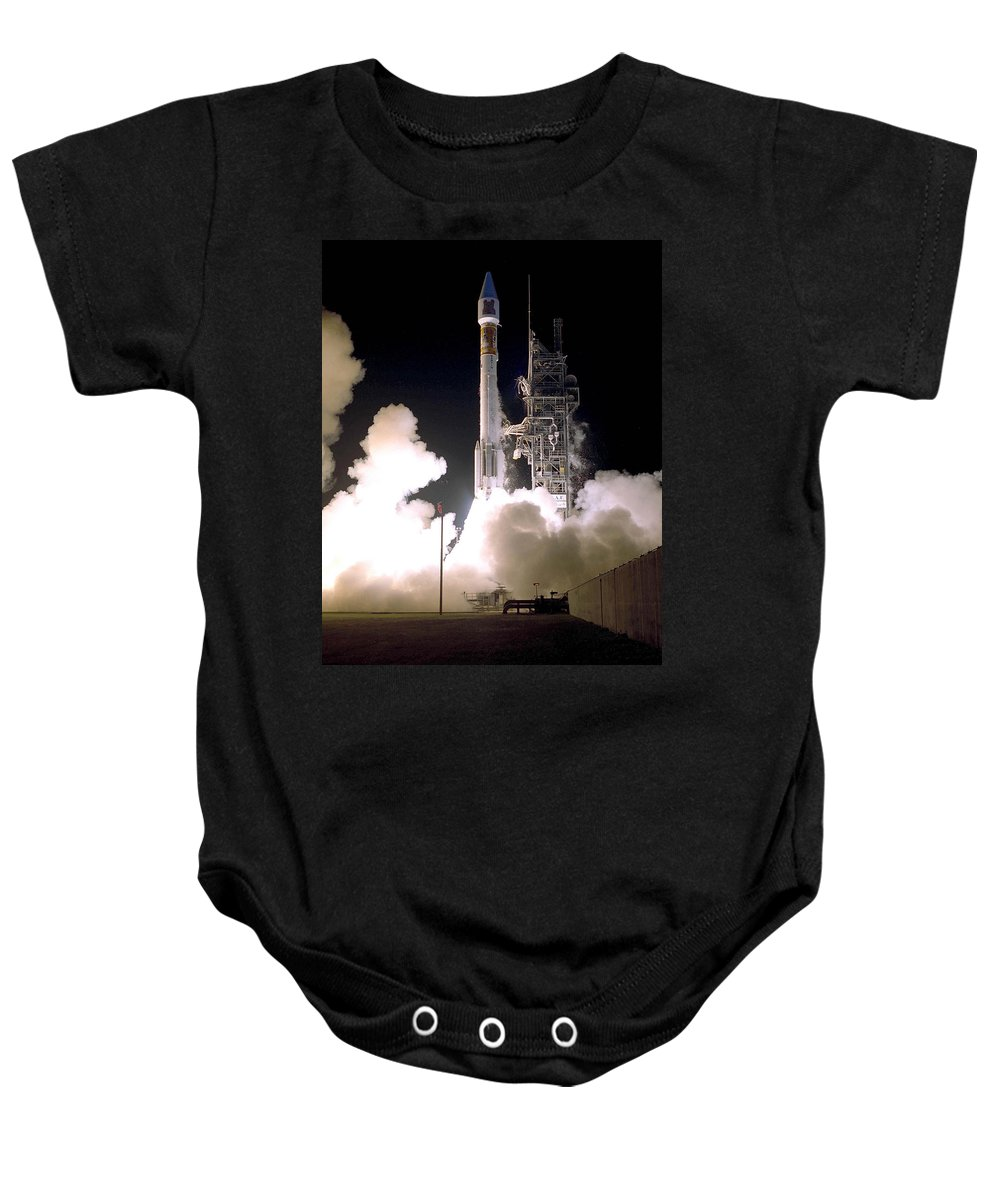 Astronomy Baby Onesie featuring the photograph Atlas 2as Rocket Launch by Science Source