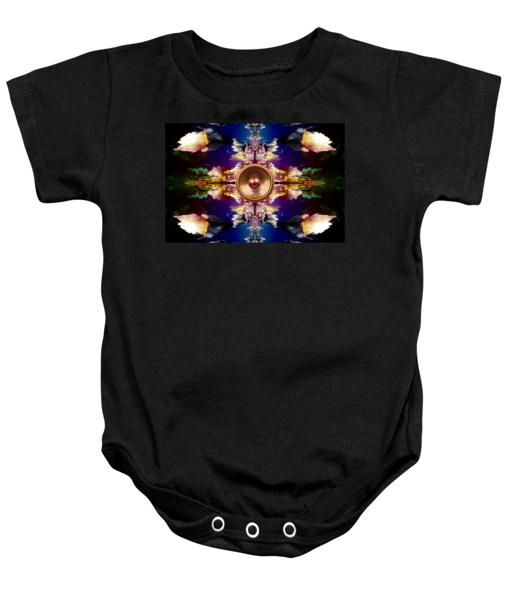 Fantasy Baby Onesie featuring the digital art Audio Reflect 2 by Steve Ball