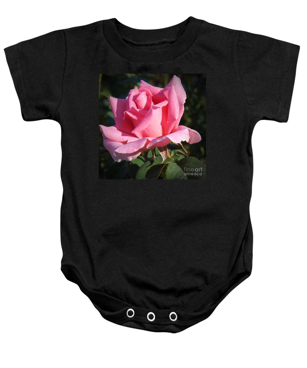 Flowers Baby Onesie featuring the photograph Aunt Honey Rose by Sara Raber