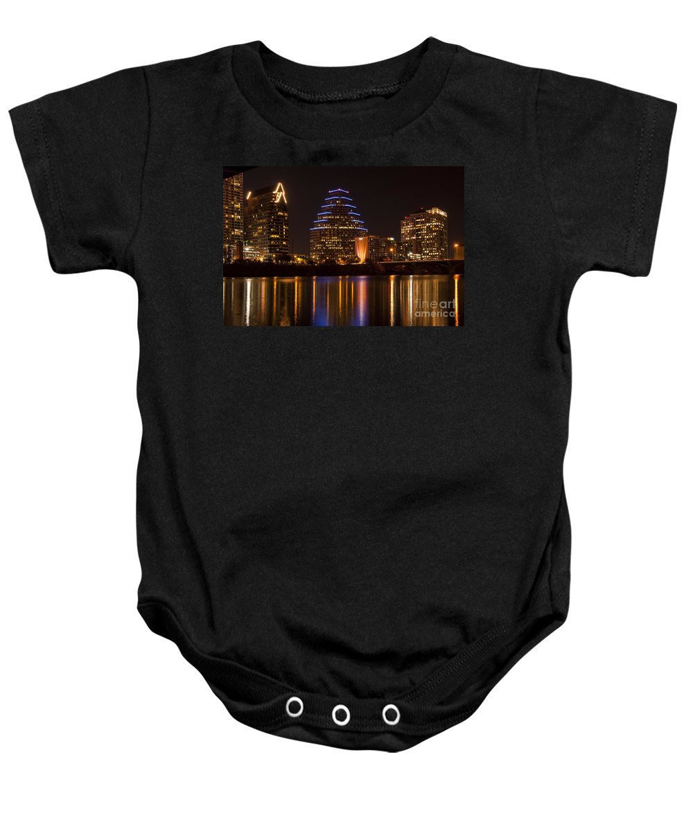 Austin Baby Onesie featuring the photograph Austin Skyline by Bob Phillips