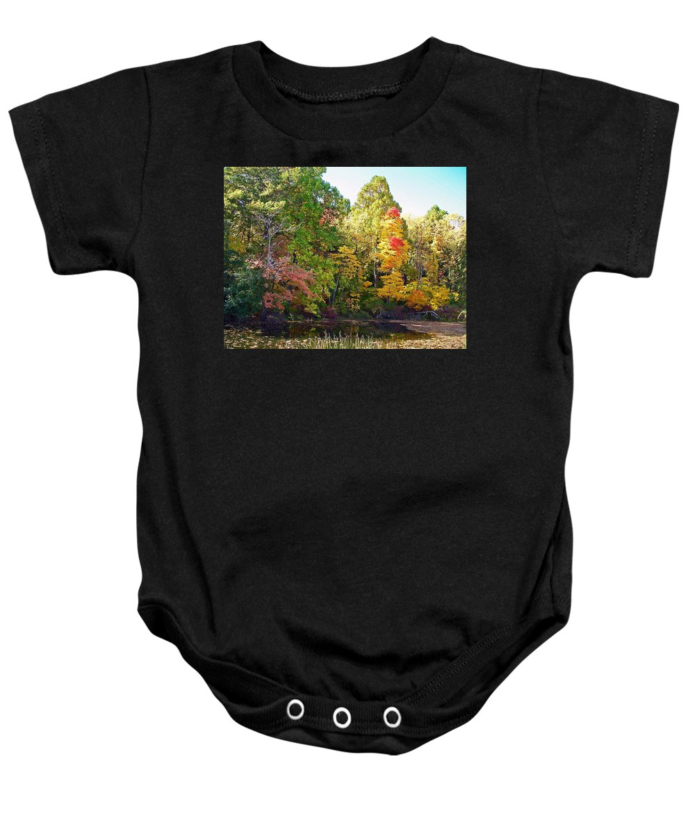 Durhand Eastman Park Baby Onesie featuring the photograph Autumn Beauty by Aimee L Maher ALM GALLERY