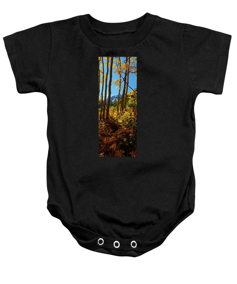 Colorado Baby Onesie featuring the photograph Autumn Brilliance 2 by Jeremy Rhoades