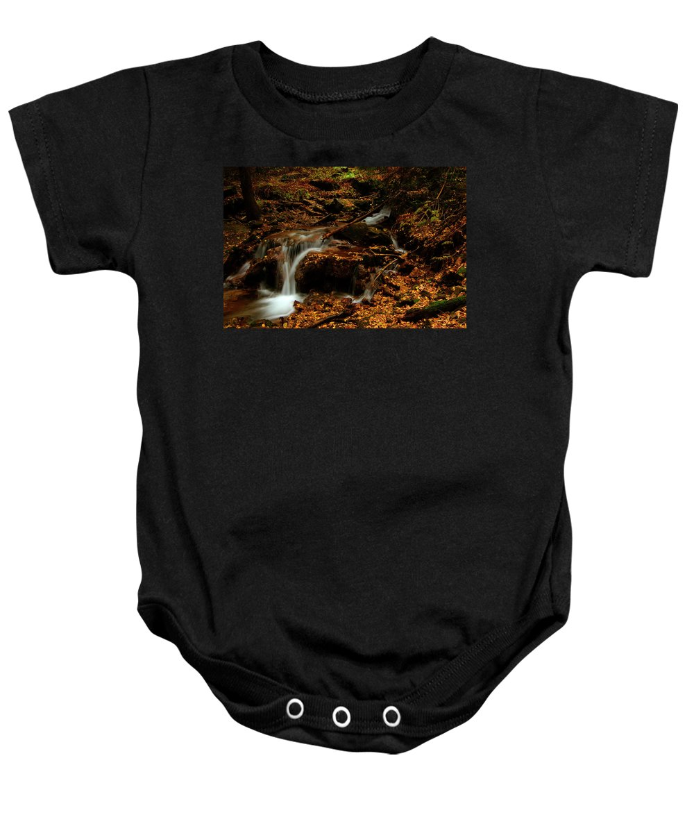 Colorado Baby Onesie featuring the photograph Autumn Washed Away by Jeremy Rhoades