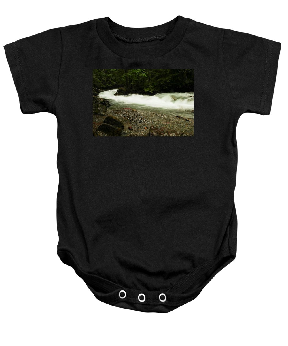 Glacier National Park Baby Onesie featuring the photograph Avalanche Creek by Jeff Swan
