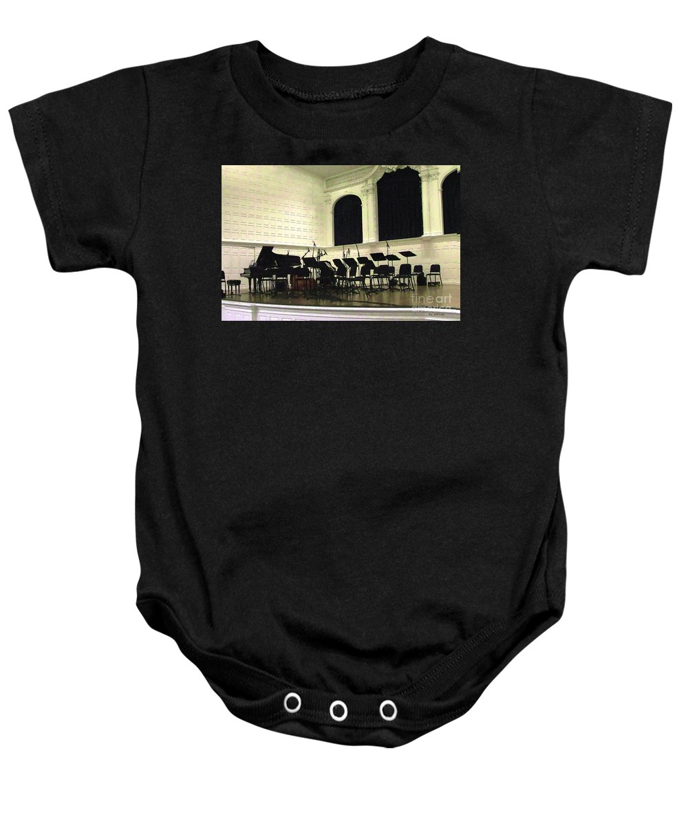 Stage Baby Onesie featuring the painting Awaiting The Music by RC DeWinter
