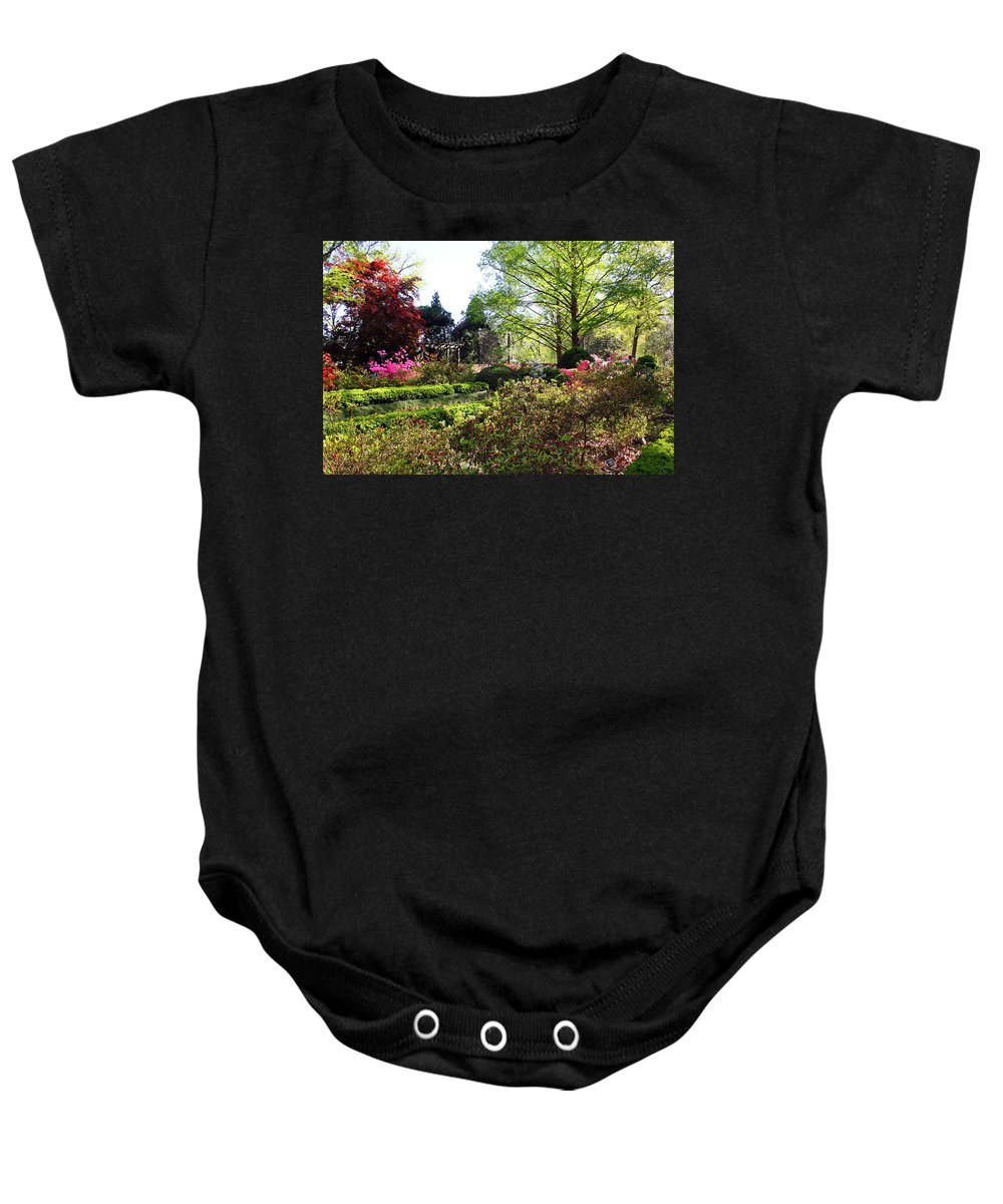 Garden Baby Onesie featuring the photograph Azalea Garden by Carolyn Stagger Cokley