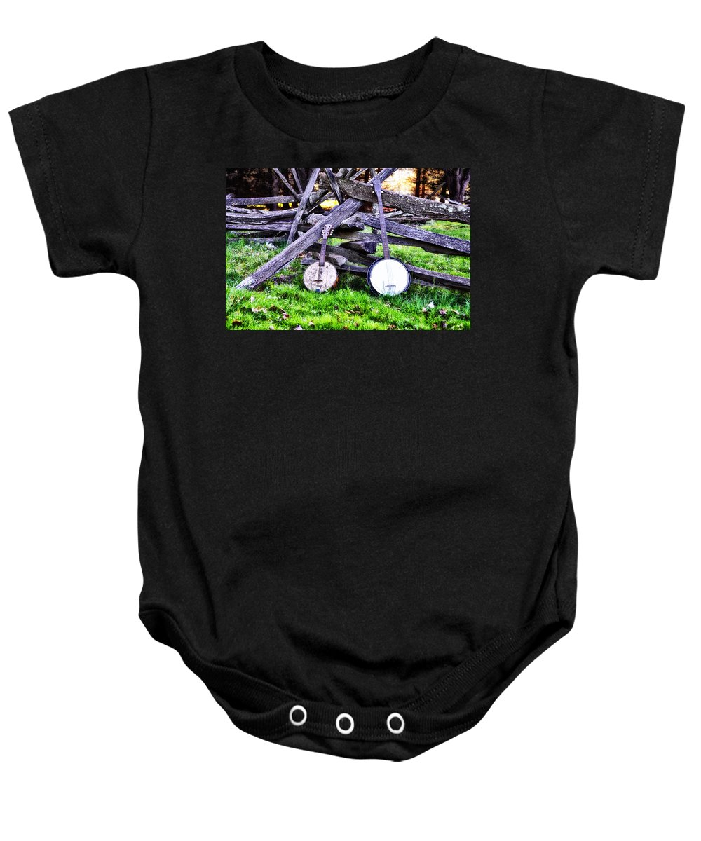 Backwoods Baby Onesie featuring the photograph Backwoods Music by Bill Cannon