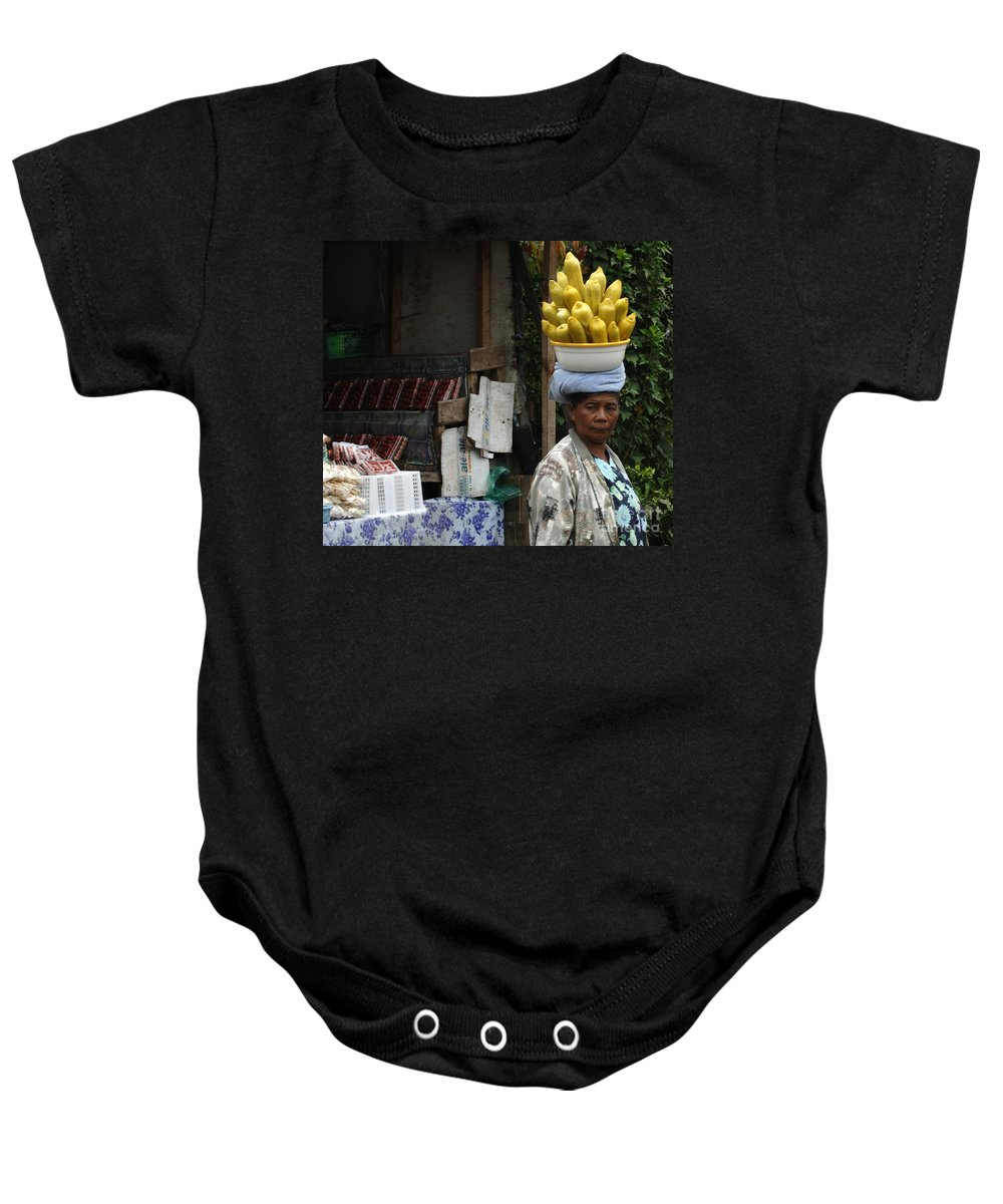 Bali Baby Onesie featuring the photograph Bali Indonesia Proud People 2 by Bob Christopher