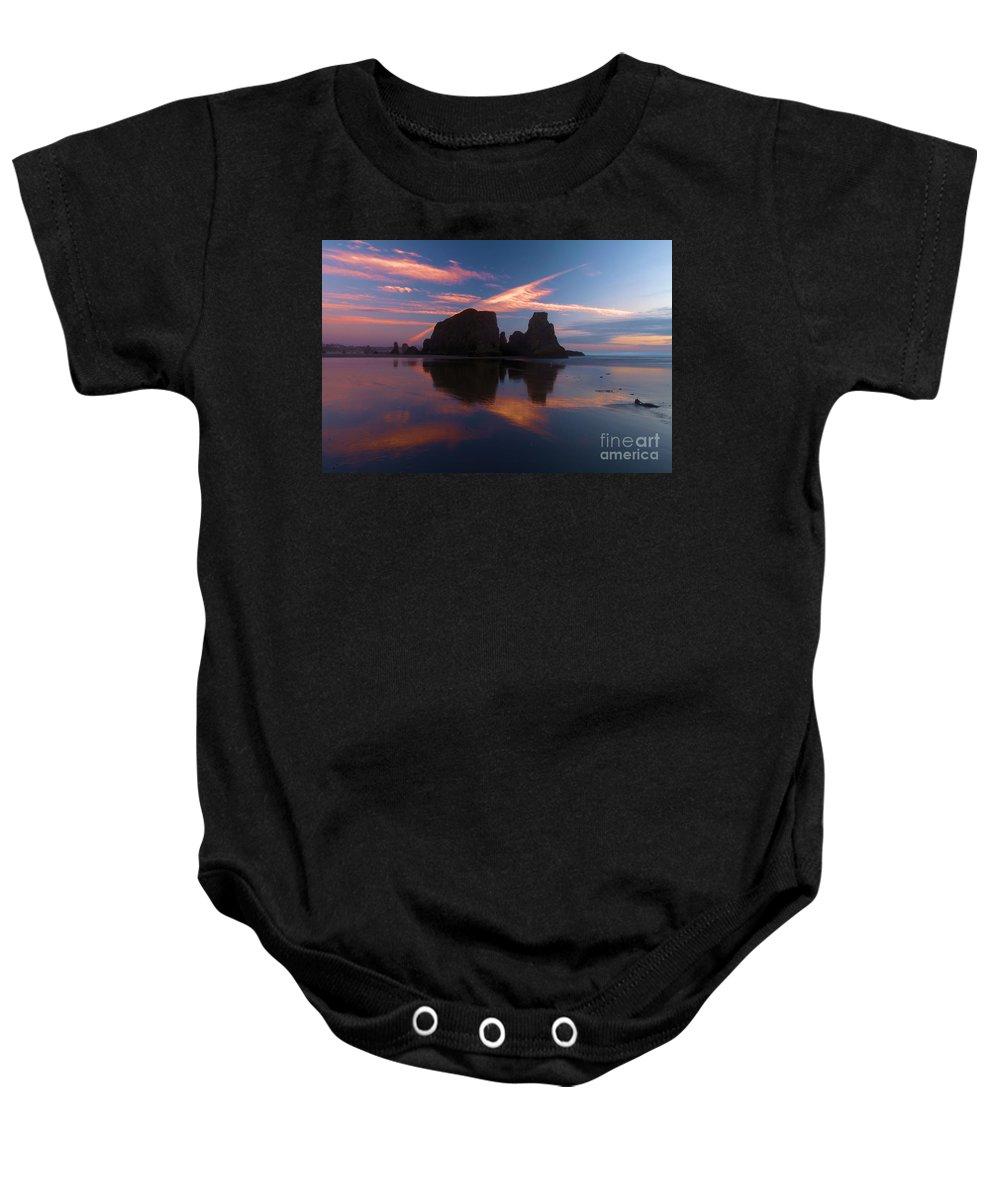 Bandon Beach Baby Onesie featuring the photograph Bandon Beach Skies by Adam Jewell