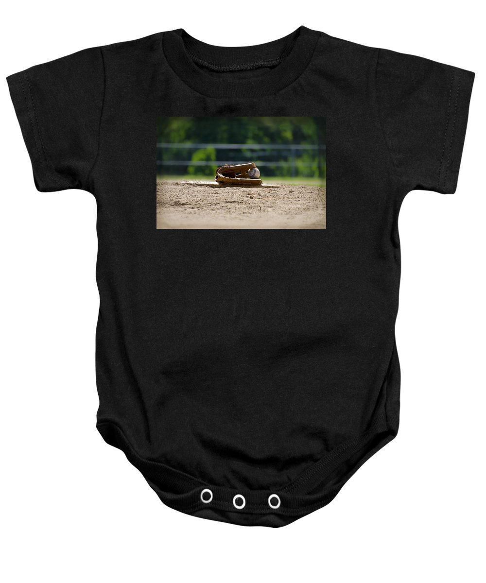 Baseball Baby Onesie featuring the photograph Baseball - America's Game by Bill Cannon
