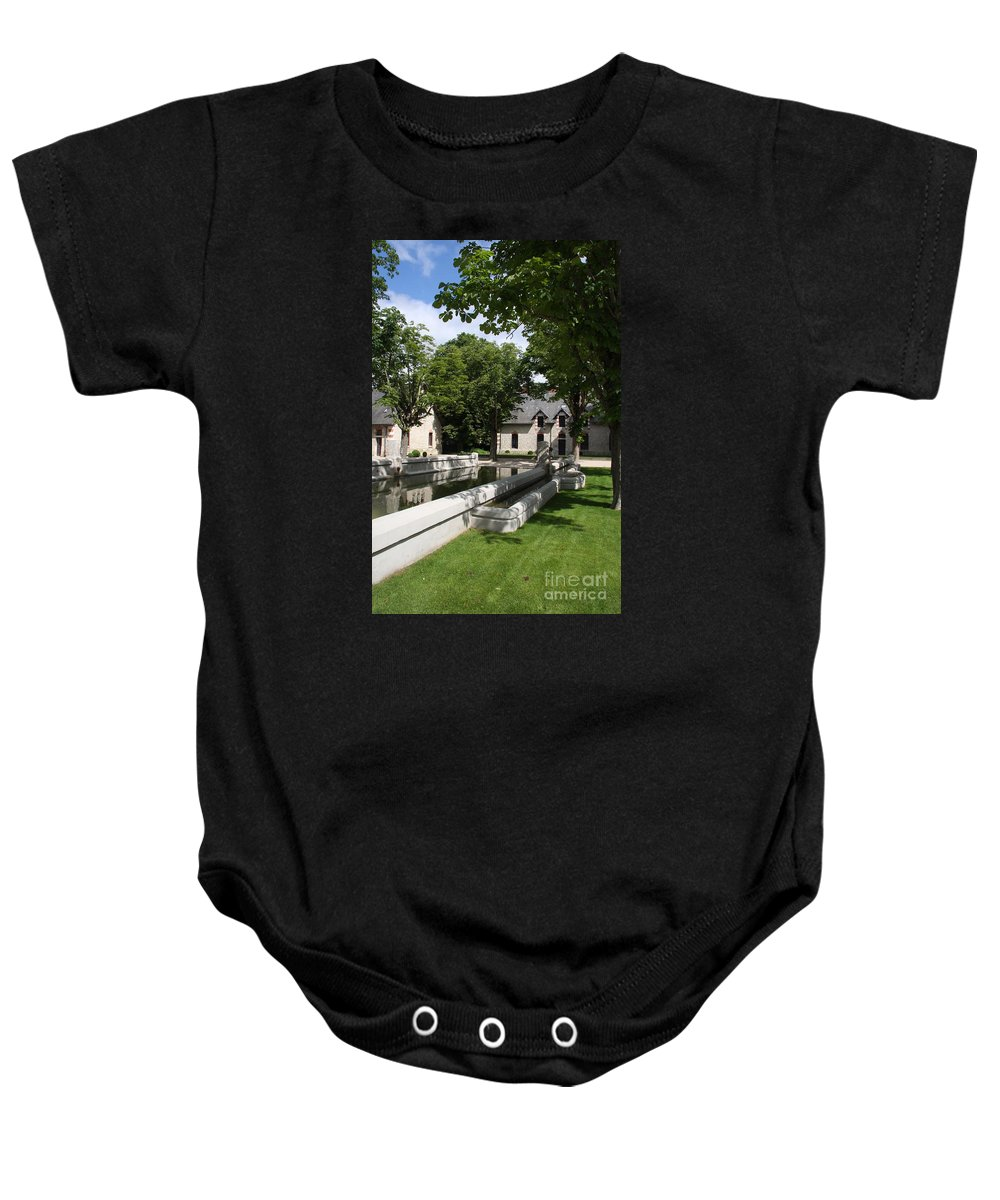 Water Baby Onesie featuring the photograph Basin In The Castle Yard by Christiane Schulze Art And Photography