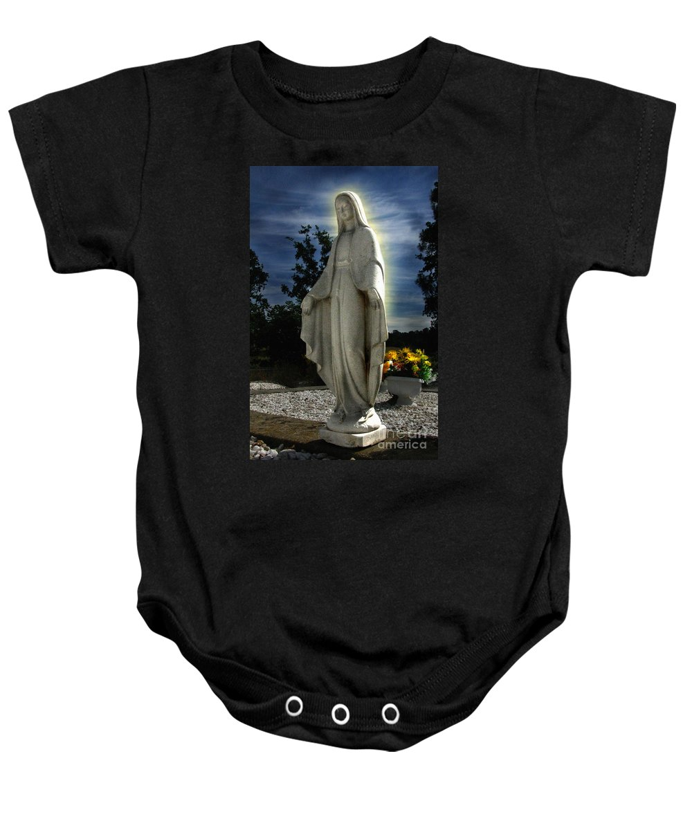 Bask In His Glory Baby Onesie featuring the photograph Bask In His Glory 01 by Peter Piatt