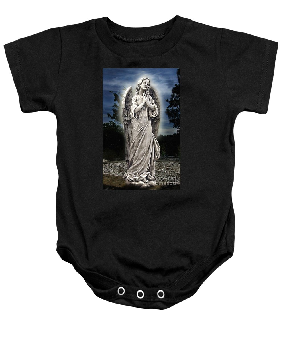 Bask In His Glory Baby Onesie featuring the photograph Bask In His Glory 02 by Peter Piatt