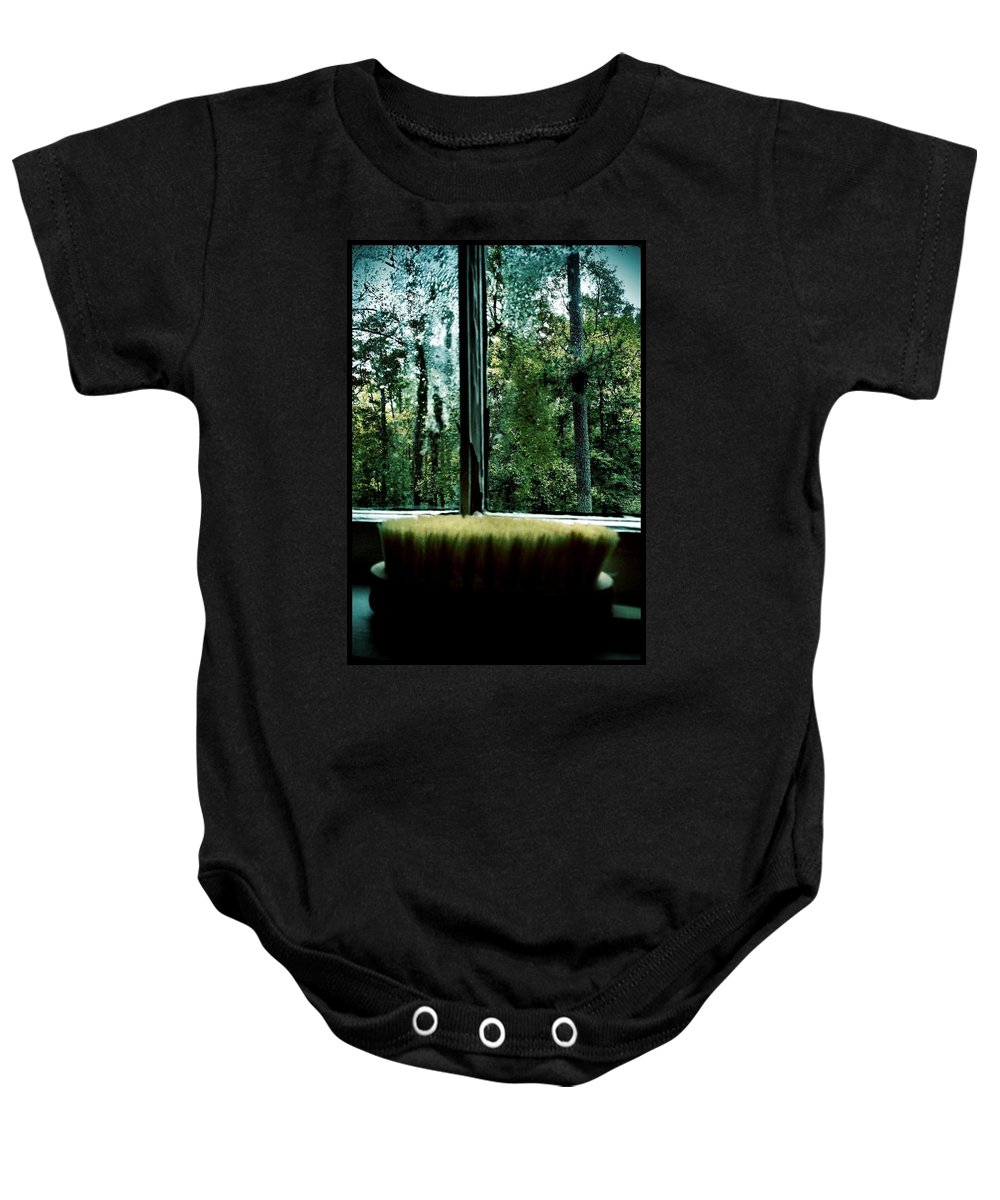 Back Brush Baby Onesie featuring the photograph Bathroom Bliss by Michele Monk