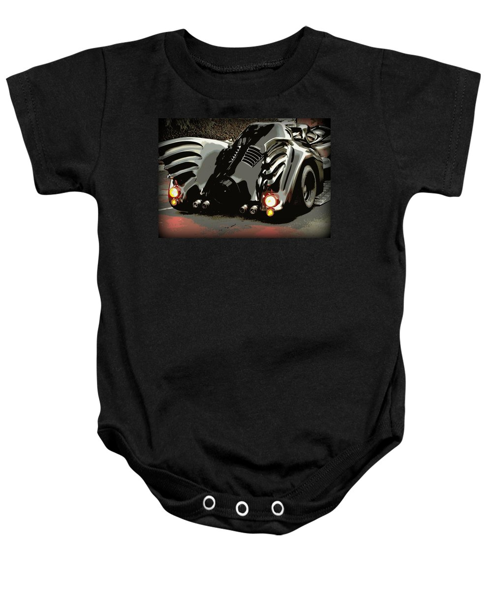 Batmobile Baby Onesie featuring the photograph Batmobile 2 by Cathy Smith