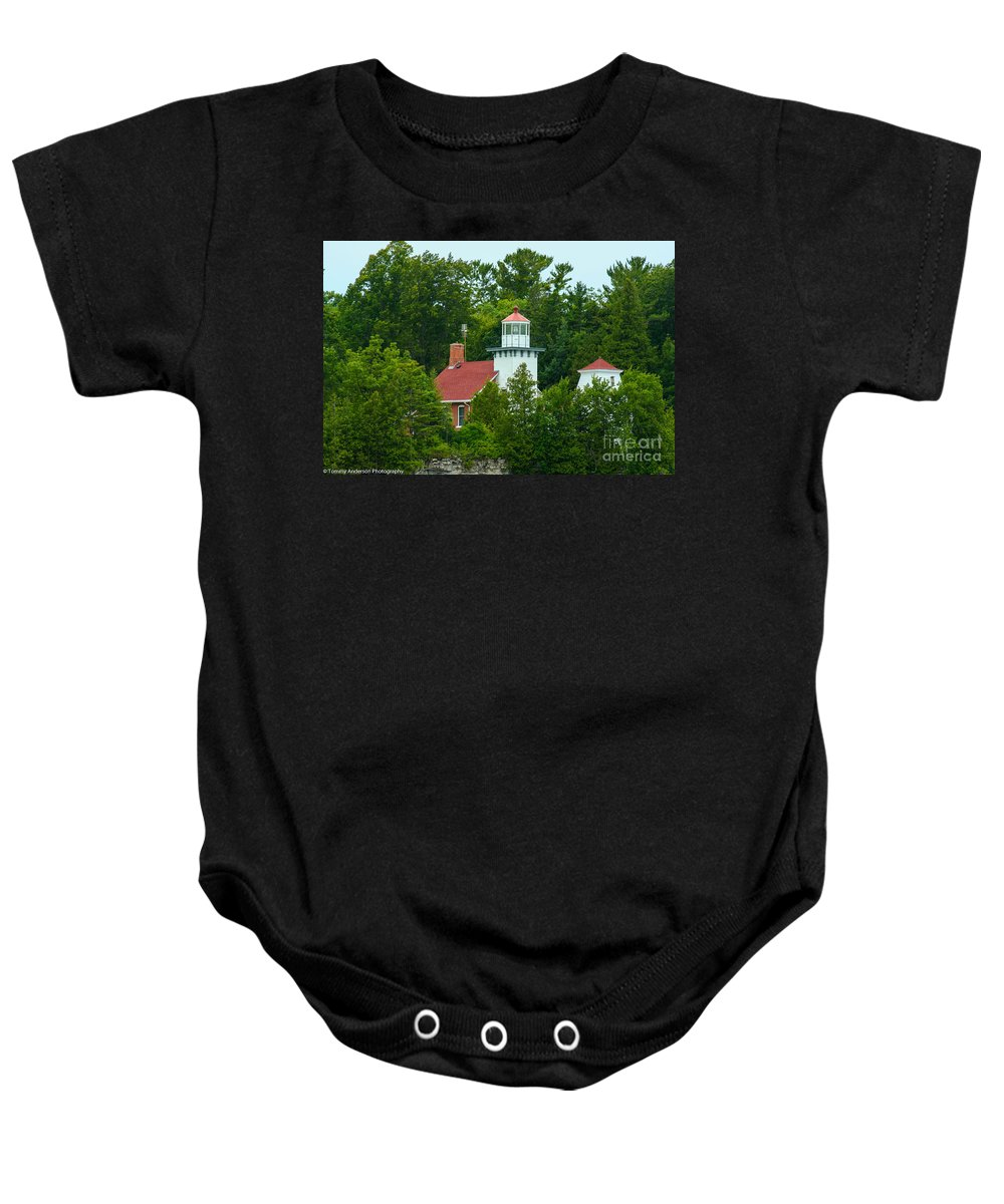 Sturgeon Bay Baby Onesie featuring the photograph Bay Of Green Bay Lighthouse by Tommy Anderson