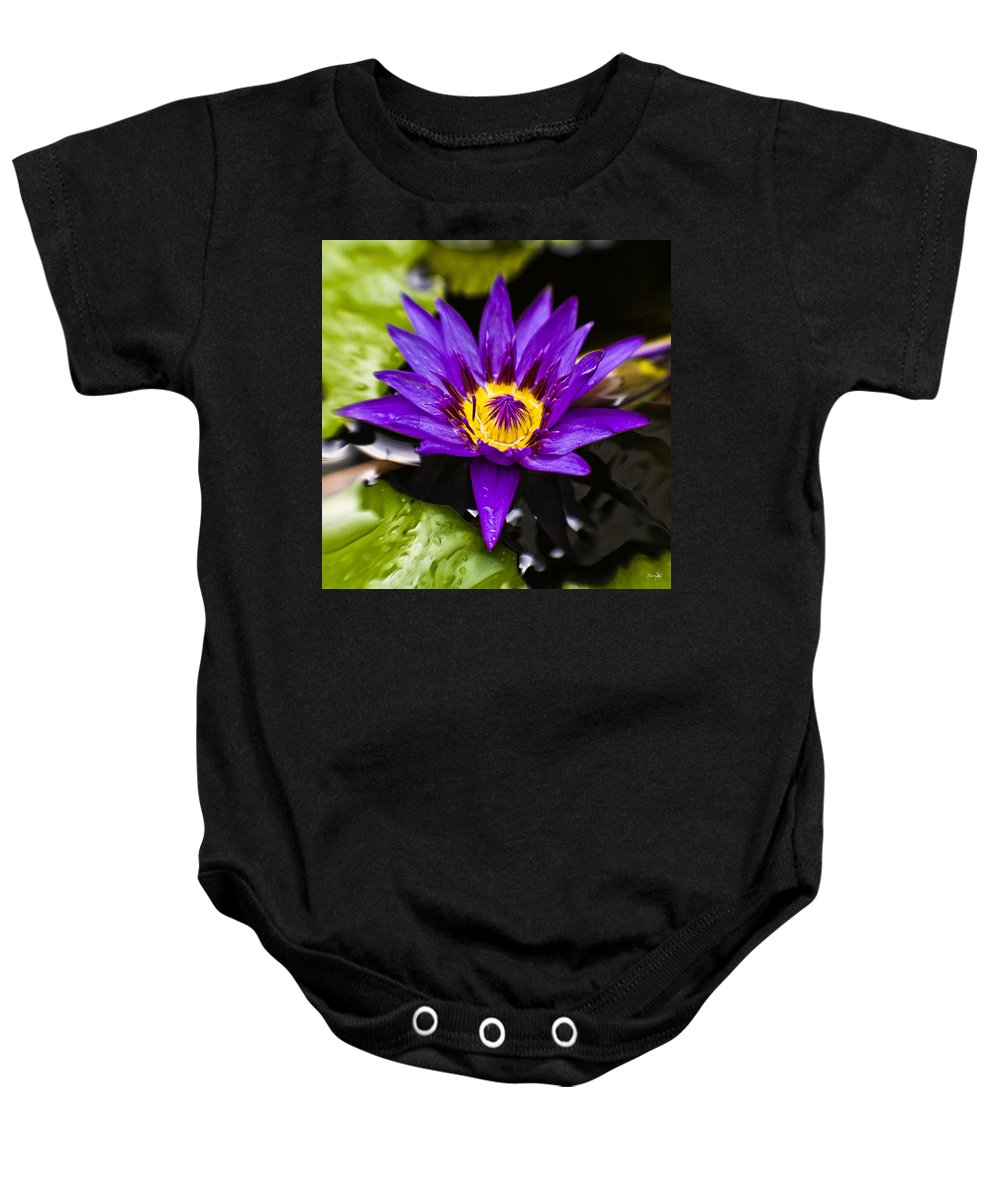 Lotus Baby Onesie featuring the photograph Bayou Beauty by Scott Pellegrin