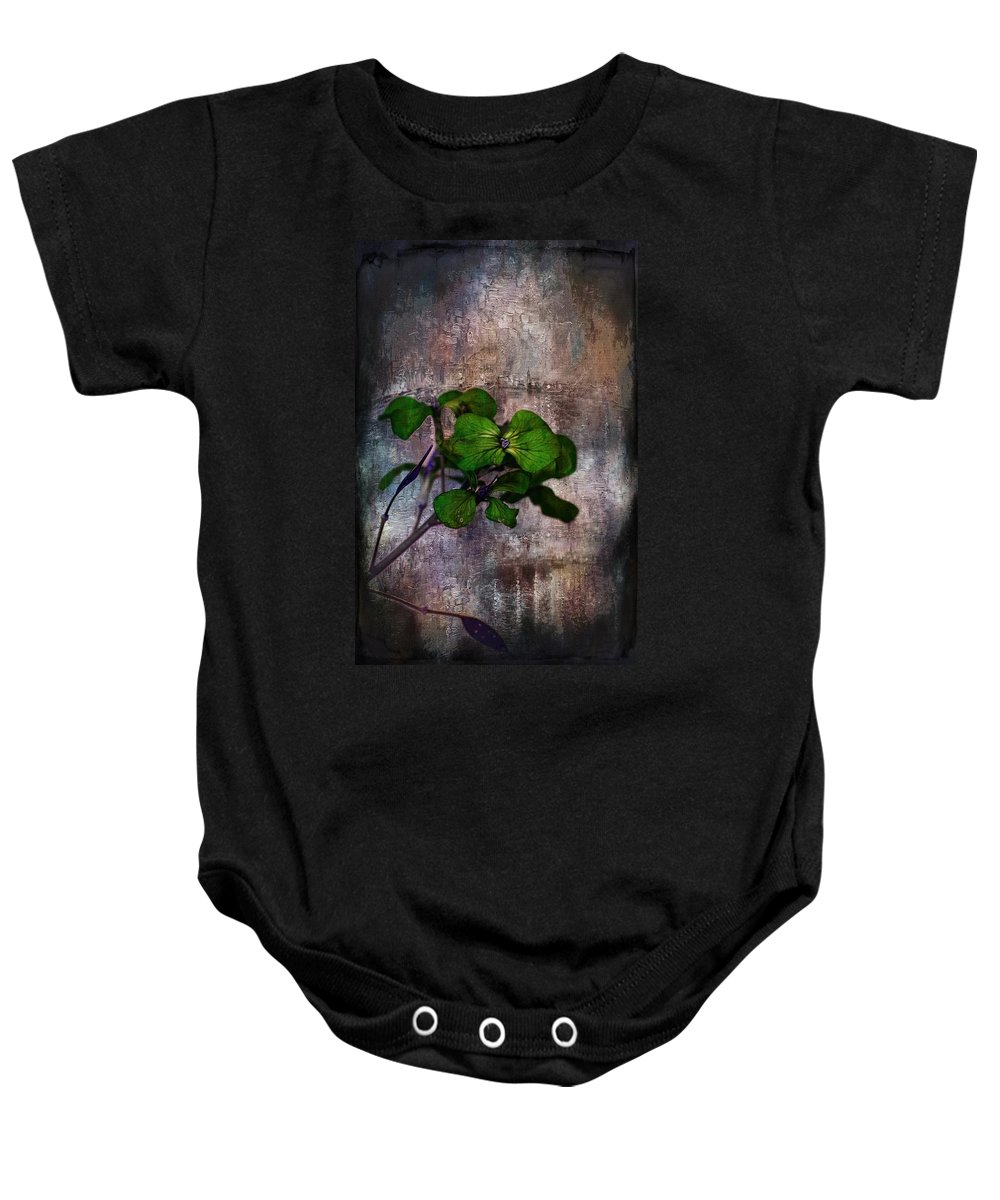 Flowers Baby Onesie featuring the mixed media Be Green by Aaron Berg