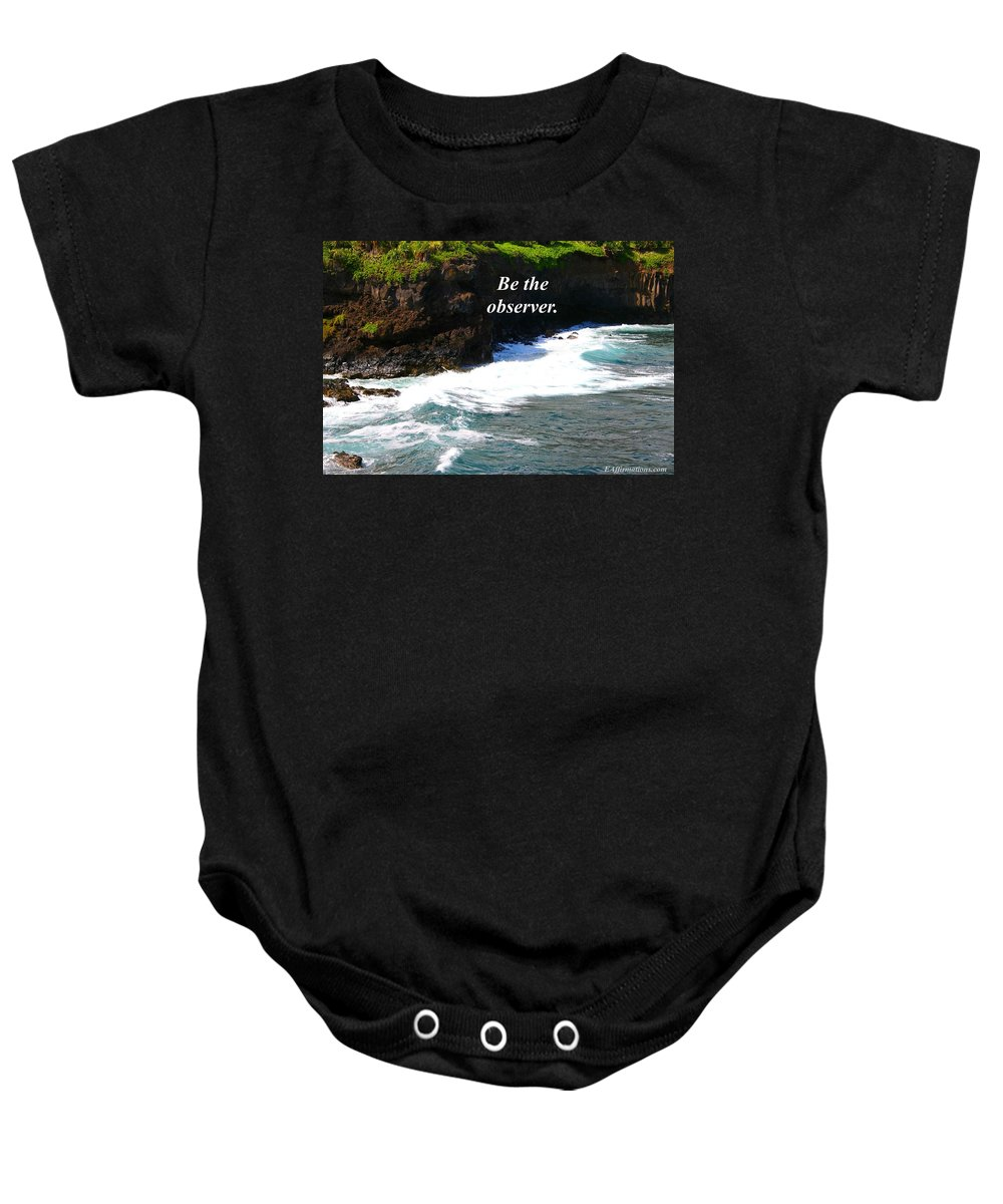 Ocean Baby Onesie featuring the photograph Be The Observer by Pharaoh Martin