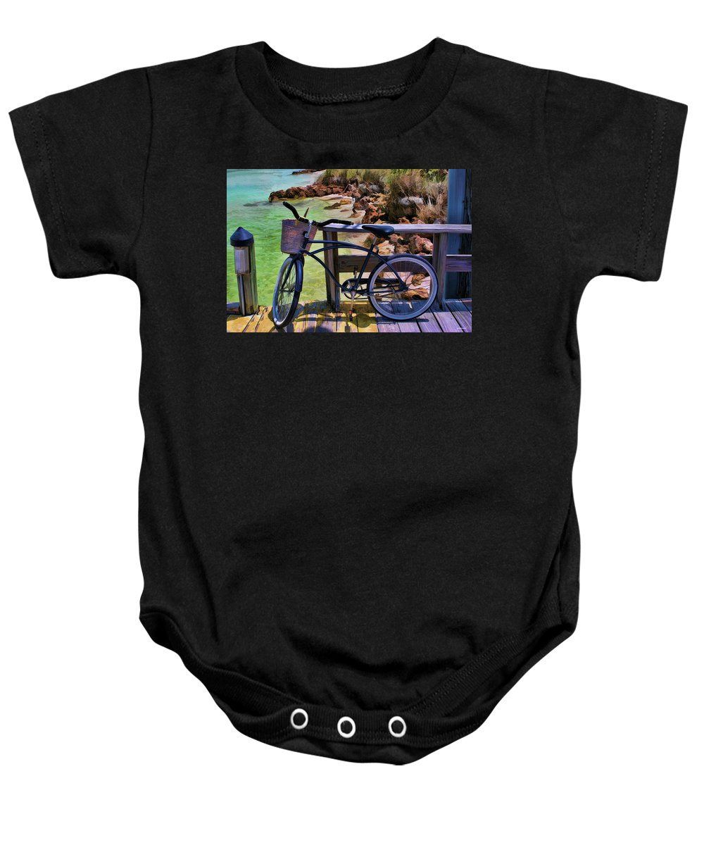 Landscapes Baby Onesie featuring the photograph Beach Buggy-bike by Tom Prendergast